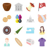 History, tourism, business and other web icon in cartoon styleanimal, shadow, clothing. icons in set collection. Royalty Free Stock Images