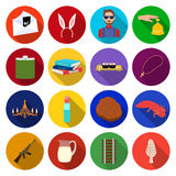 History, travel, army and other web icon in flat style.knowledge, business, restaurant icons in set collection. Stock Photos