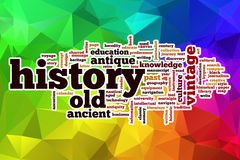 History word cloud with abstract background Royalty Free Stock Image