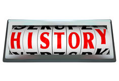 History Word in Odomoter Dial Bar Stock Photo