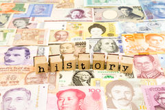 History wording, business and education concept Stock Photo