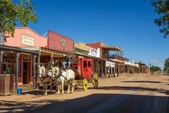 Historyczna Allen ulica z stagecoach w nagrobku, Arizona zdjęcia stock