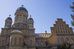 Historyczna architektura Chernivtsi uniwersytet Ukraina Kwiecień 2014 Zdjęcie Stock