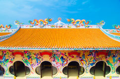 Historyczna architektura Chiny niebieskie niebo i dach Fotografia Royalty Free
