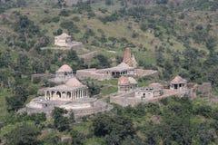 Historyczna architektura, grupa świątynia, kumbhalgarg fort Zdjęcie Stock