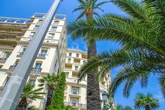 Historyczna architektura Monaco na słonecznym dniu fotografia royalty free