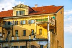 Historyczna architektura Torino na słonecznym dniu obraz royalty free