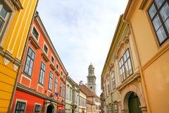 Historyczna architektura w Sopron fotografia stock