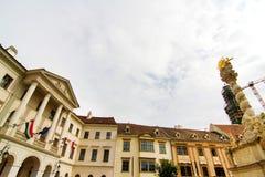 Historyczna architektura w Sopron Zdjęcia Stock