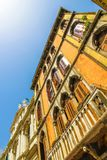 Historyczna architektura Wenecja na słonecznym dniu zdjęcia stock