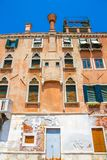 Historyczna architektura Wenecja na słonecznym dniu fotografia stock