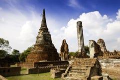 historyczna ayudhaya świątynia Fotografia Royalty Free