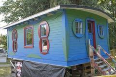 Historyczna błękitna kabina remediated przy Maplewood gospodarstwem rolnym w Północnym Van Obrazy Stock