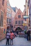 Historyczna Boettcher ulica w Bremen, Niemcy Obraz Stock