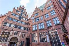 Historyczna Boettcher ulica w Bremen, Niemcy Obrazy Stock