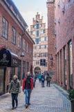 Historyczna Boettcher ulica w Bremen, Niemcy Fotografia Royalty Free