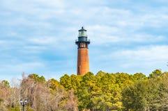Historyczna Currituck plaży latarnia morska zdjęcia royalty free