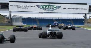 Historyczna formuła 1, Silverstone klasyk Zdjęcia Royalty Free