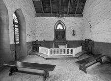 Historyczna fortu De Chartres kaplica południowy Illinois Zdjęcie Stock