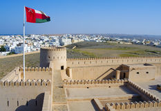 Historyczna fortyfikacja, Sunaysilah kasztel lub fort w Sura, Sul fotografia stock