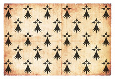 Historyczna Grunge flaga Duchy Brittany Francja Obraz Stock