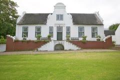 Historyczna Holenderska przylądek architektura przy Stellenbosch wina regionem na zewnątrz Kapsztad, Południowa Afryka Obraz Royalty Free