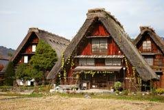 historyczna idzie domów shirakawa wioska Zdjęcie Royalty Free