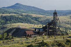 Historyczna kopalnia złota w zwycięzcy Colorado Zdjęcia Royalty Free