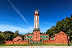 Historyczna latarnia morska na morzu bałtyckim w Niechorze, Polska, Europa Latarnia morska budował w 1866 Obraz Stock