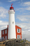 Historyczna latarnia morska, Wiktoria, kolumbiowie brytyjska obrazy royalty free