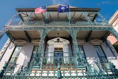 Historyczna mieszkaniowa architektura w Charleston, SC Obraz Stock