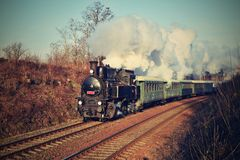 historyczna pary pociąg Szczególnie wszczynający Czeski stary kontrpara pociąg ono potyka się dla podróżować wokoło republika cze Obrazy Royalty Free