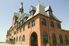 Historyczna Środkowa linii kolejowej stacja, Dżersejowy miasto, Nowy - bydło Zdjęcie Royalty Free