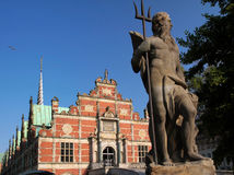 Historyczna stara giełda papierów wartościowych w Kopenhaga Obrazy Stock