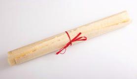 Historyczna stara papirusowa rolki wiadomość Obraz Stock