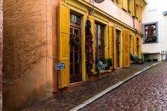 historyczna stara ulica Baden-Baden Niemcy Obrazy Royalty Free