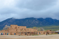 Historyczna Taos osada Obrazy Royalty Free
