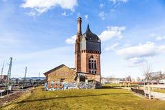 Historyczna watertower budowa cegły Zdjęcia Stock