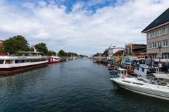 Historyczna ćwiartka Rostock, Warnemunde - Obraz Royalty Free