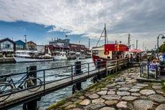 Historyczna ćwiartka Rostock, Warnemunde - Fotografia Royalty Free