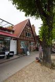 Historyczna ćwiartka Rostock, Warnemunde - Fotografia Stock