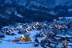 Historyczna wioska Iść w zimie obraz stock