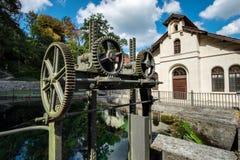 Historyczna wodna elektrownia Koenigsbronn fotografia royalty free