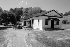Historyczna Zielona zatoczki stacja - Zielona zatoczka, Virginia Zdjęcie Royalty Free
