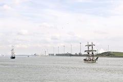 Historyczne żeglowanie łodzie Zdjęcia Royalty Free
