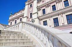 historyczne budowy columned budynku sali Hungary miasta Obrazy Royalty Free