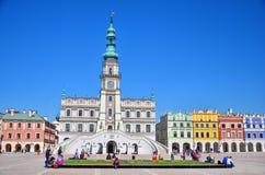 historyczne budowy columned budynku sali Hungary miasta Zdjęcie Stock