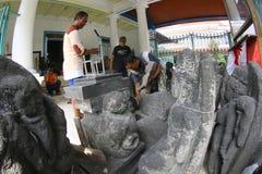 Historyczne kamienne statuy Obrazy Royalty Free
