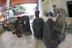 Historyczne kamienne statuy Obraz Stock
