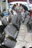 Historyczne kamienne statuy Obraz Royalty Free